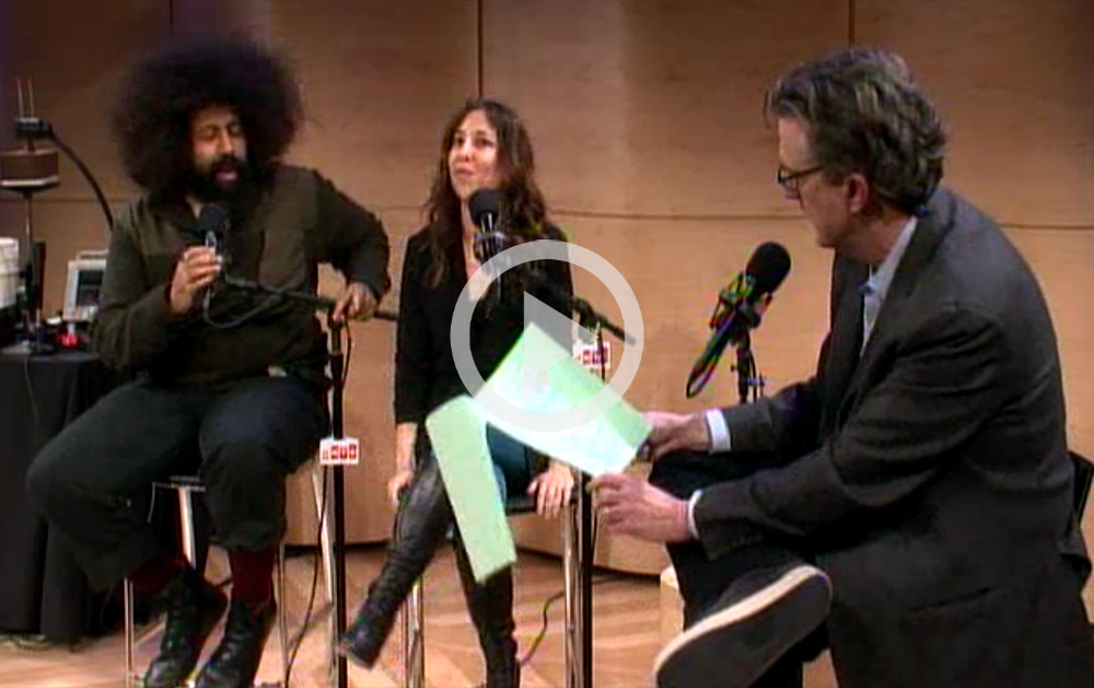Janna Levin and Reggie Watts on Studio 360 Live